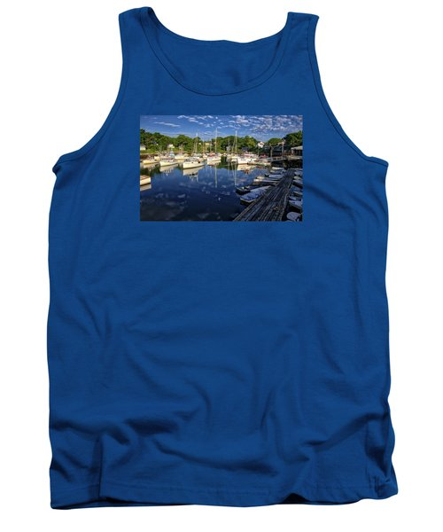 Dawn At Perkins Cove - Maine Tank Top by Steven Ralser
