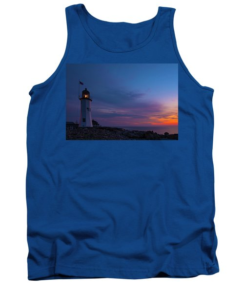 Dawn At Scituate Light Tank Top