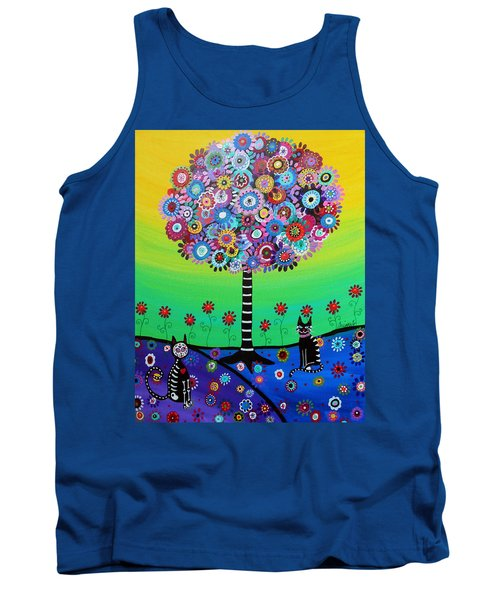 Day Of The Dead Cat'slife Tank Top