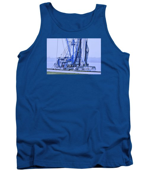 Tank Top featuring the photograph Decked Out In Blue by Laura Ragland