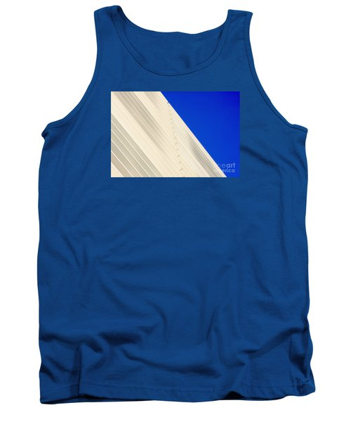 Deep Blue Sky And Office Building Wall Tank Top