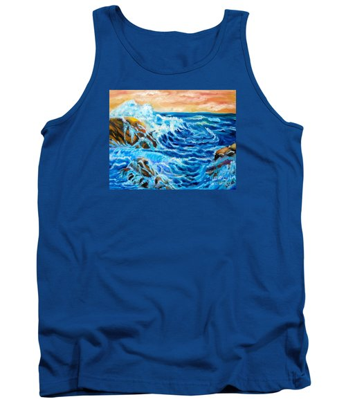 Tank Top featuring the painting Deep by Jenny Lee