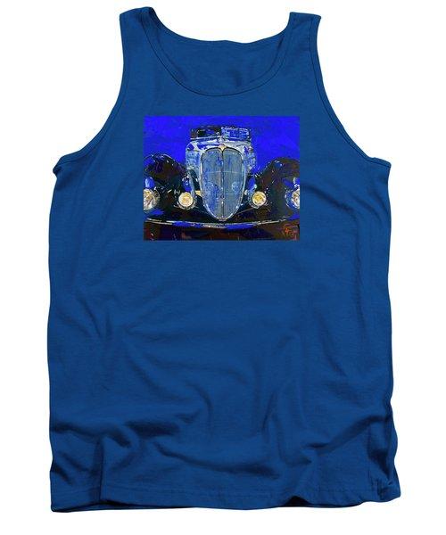 Delahaye Vintage Car Blue Tank Top by Walter Fahmy
