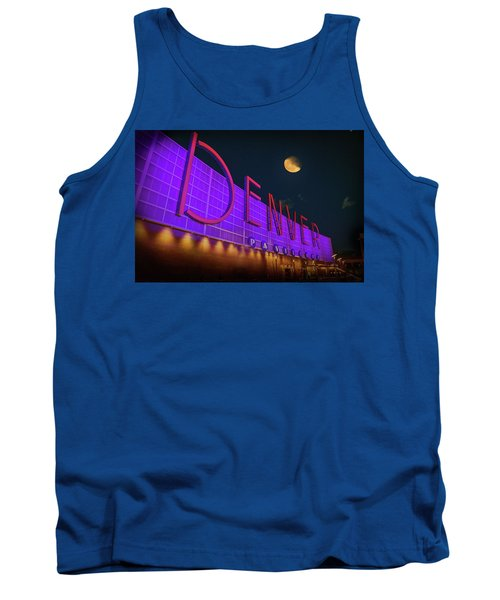 Tank Top featuring the photograph Denver Pavilion At Night by Kristal Kraft