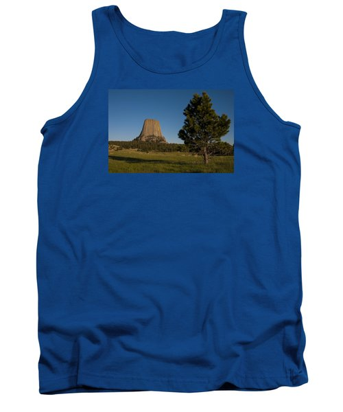 Tank Top featuring the photograph Devil's Tower by Gary Lengyel