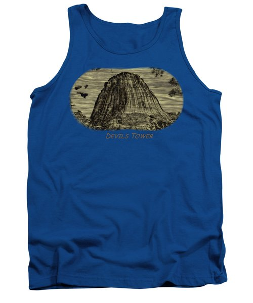 Devils Tower Woodburning 2 Tank Top