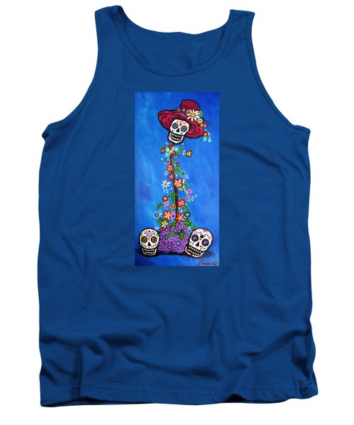 Tank Top featuring the painting Dia De Los Muertos by Pristine Cartera Turkus