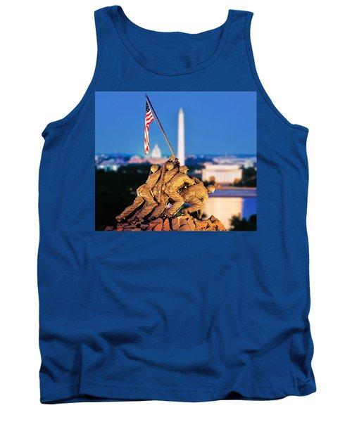 Digital Composite, Iwo Jima Memorial Tank Top by Panoramic Images