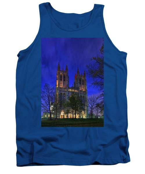 Digital Liquid - Washington National Cathedral After Sunset Tank Top