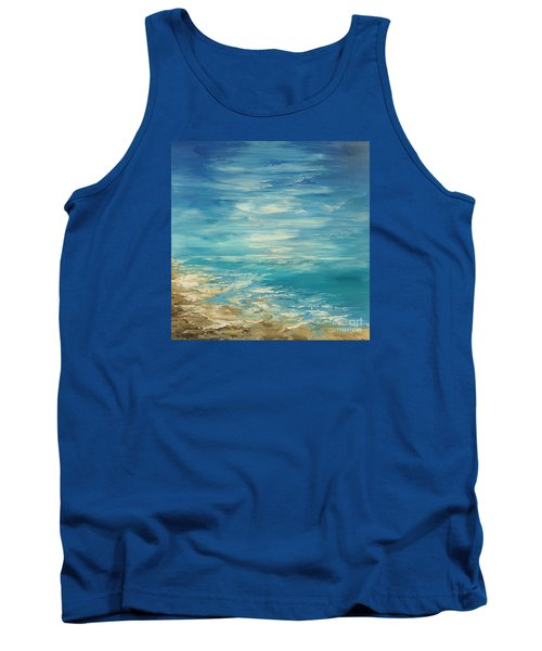 Tank Top featuring the painting Distant Deluge by Tatiana Iliina