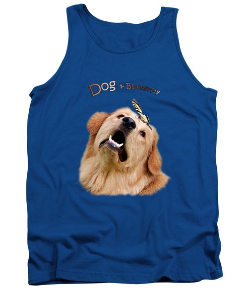 Dog And Butterfly Tank Top by Christina Rollo