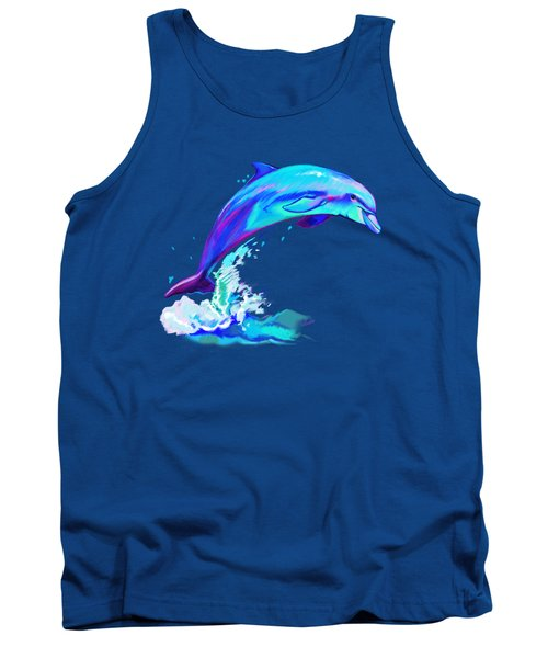Dolphin In Colors Tank Top by A