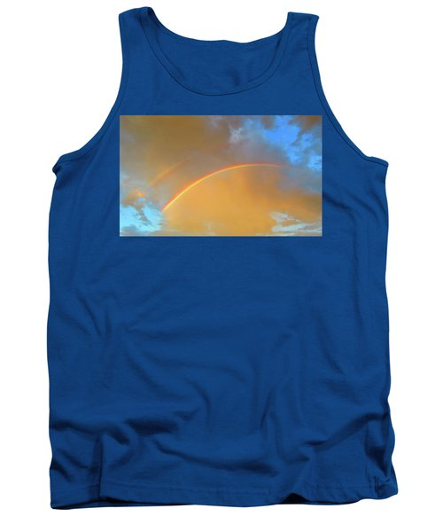 Double Rainbows In The Desert Tank Top