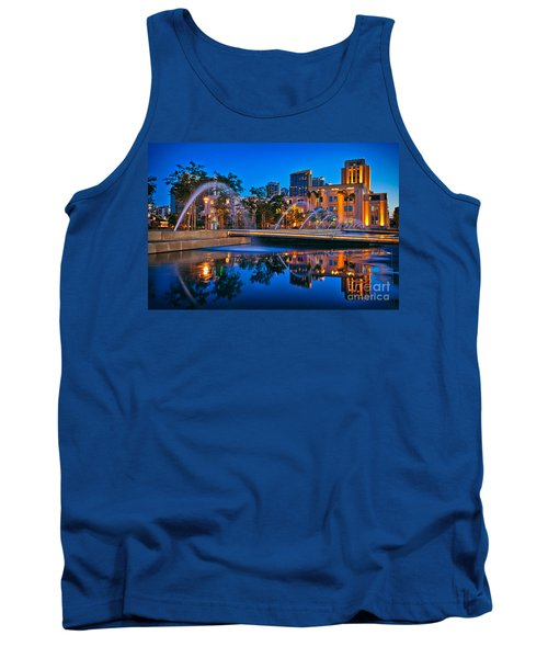 Downtown San Diego Waterfront Park Tank Top by Sam Antonio Photography