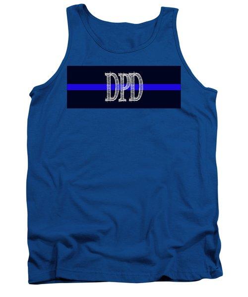 Dpd Blue Line Mug Tank Top by Robert J Sadler