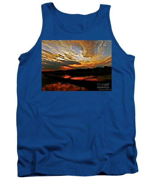 Drama In The Sky At The Sunset Hour Tank Top by Carol F Austin