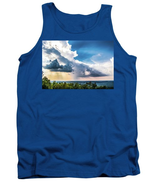 Tank Top featuring the photograph Dramatic Sunrays Over The Valley by Shelby Young