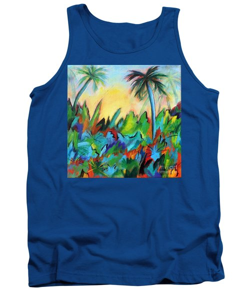 Tank Top featuring the painting Drawn By The Color by Elizabeth Fontaine-Barr
