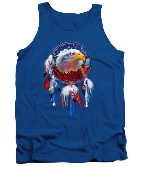 Dream Catcher - Eagle Red White Blue Tank Top