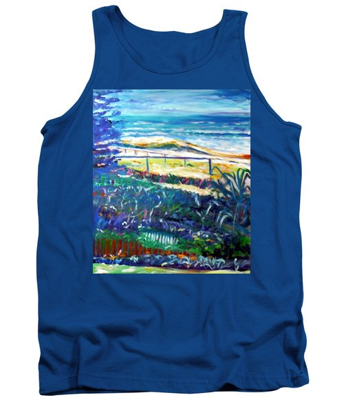 Tank Top featuring the painting Dune Grasses by Winsome Gunning