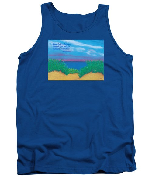 Dunes At Dawn - With Quote Tank Top
