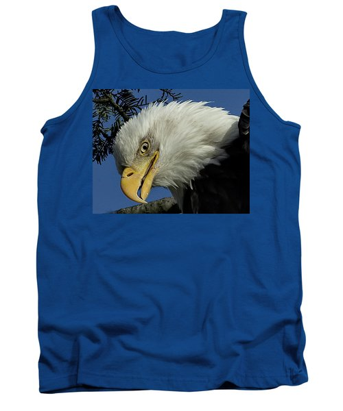 Eagle Head Tank Top by Sheldon Bilsker