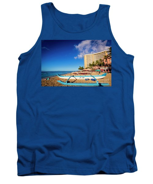 Early Morning At Outrigger Beach,hawaii Tank Top