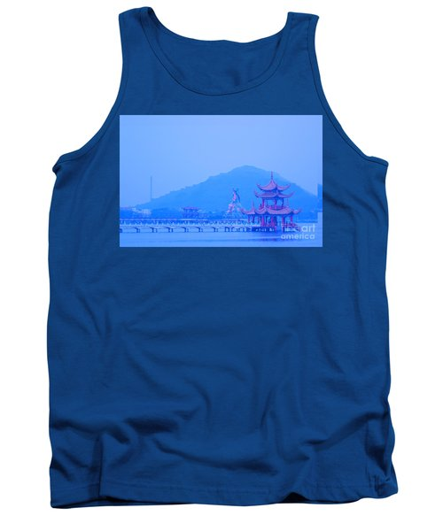 Tank Top featuring the photograph Early Morning At The Lotus Lake by Yali Shi
