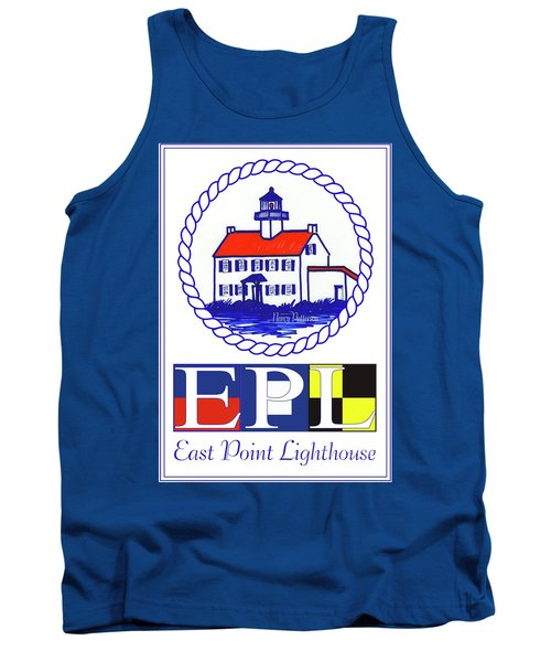 East Point Lighthouse Poster - 2 Tank Top by Nancy Patterson