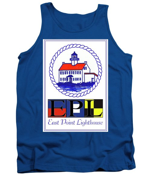 East Point Lighthouse Poster Tank Top