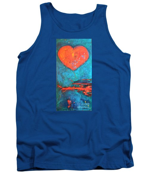 Tank Top featuring the painting East Winds by Diana Bursztein
