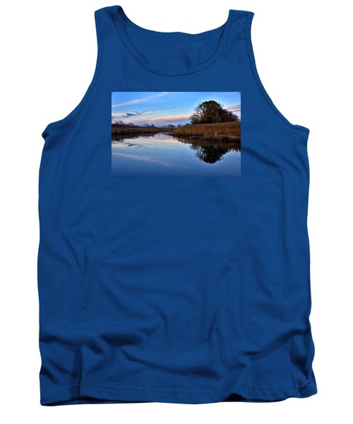 Tank Top featuring the photograph Eastern Shore Sunset - Blackwater National Wildlife Refuge by Brendan Reals