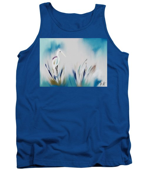 Egret Splash Tank Top by Frank Bright