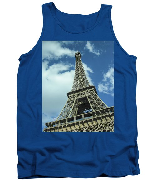 Tank Top featuring the photograph Eiffel Tower by Allen Sheffield