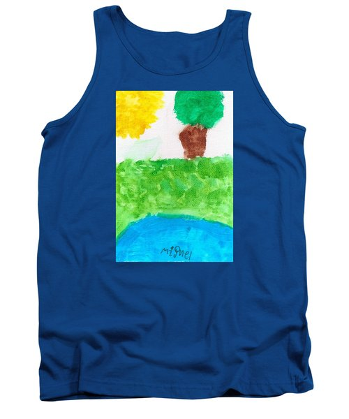 Tank Top featuring the painting El Paisaje by Artists With Autism Inc