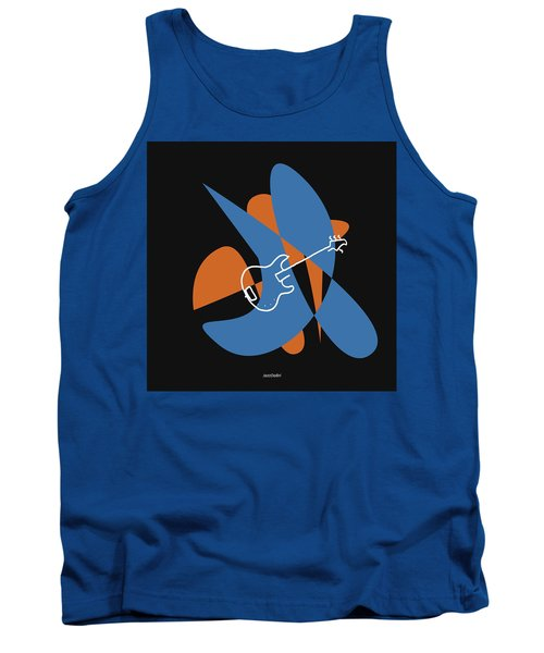 Electric Bass In Blue Tank Top
