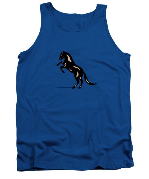 Emma - Pop Art Horse - Black, Hazelnut, Greenery Tank Top