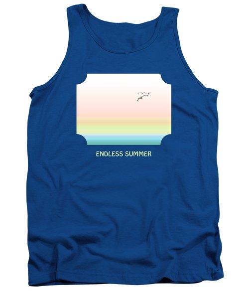 Endless Summer - Blue Tank Top by Gill Billington