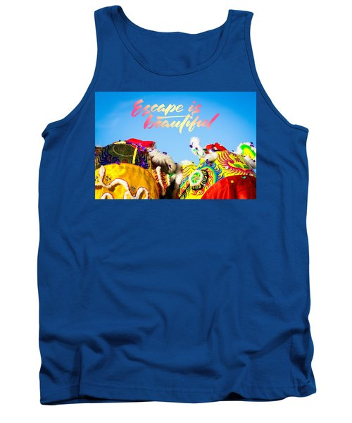 Tank Top featuring the photograph Escape by Bobby Villapando