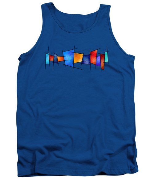 Esseniumos V1 - Square Abstract Tank Top
