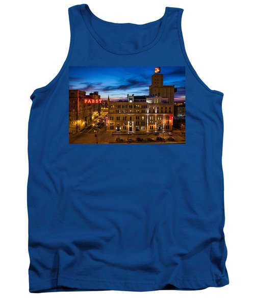 Evening At Pabst Tank Top by Bill Pevlor