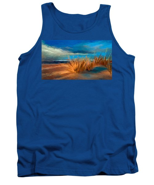 Evening Beach Dunes Tank Top by Anthony Fishburne