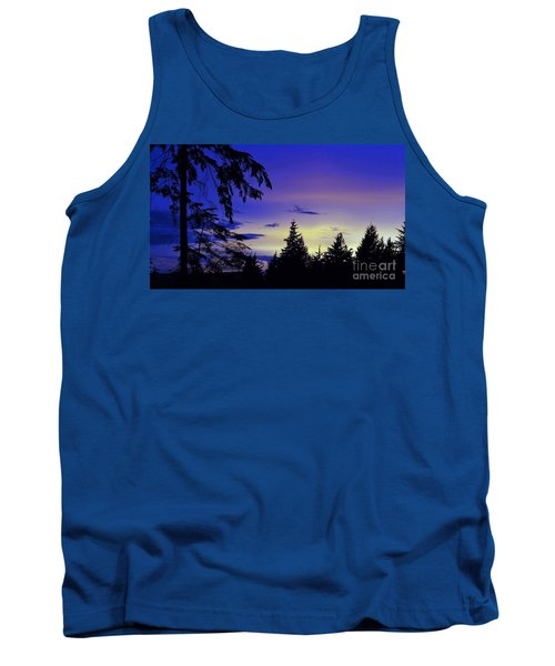Tank Top featuring the photograph Evening Blue by Victor K