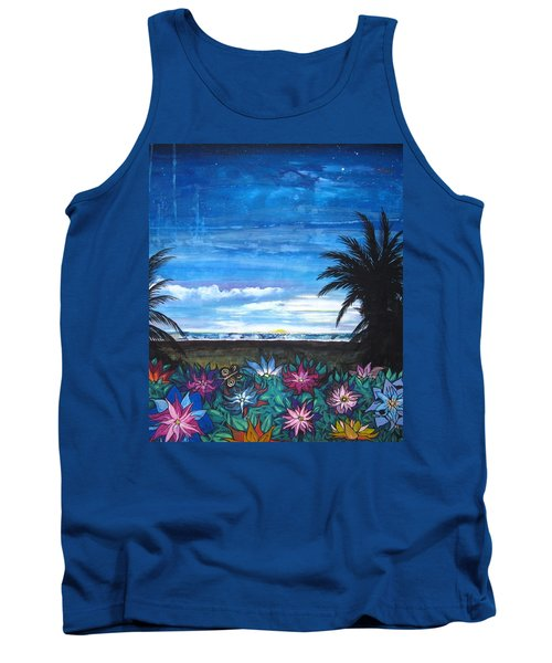 Tropical Evening Tank Top by Mary Ellen Frazee