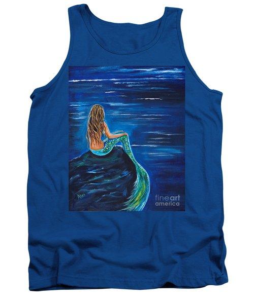 Evening Tide Mermaid Tank Top by Leslie Allen