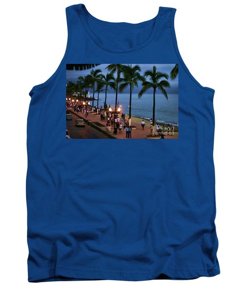 Evenings On The Malecon Tank Top by Chuck Kuhn