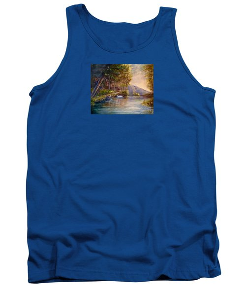 Tank Top featuring the painting Evening's Twilight by Patricia Schneider Mitchell
