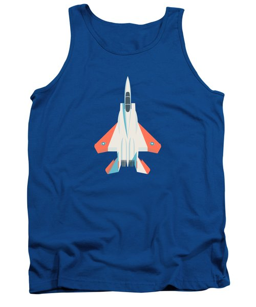 F15 Eagle Fighter Jet Aircraft - Test Slate Tank Top