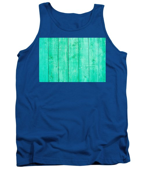 Tank Top featuring the photograph Fading Aqua Paint On Wood by John Williams