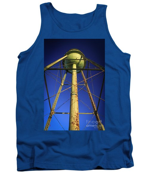 Tank Top featuring the photograph Faithful Mary Leila Cotton Mill Water Tower Art by Reid Callaway